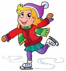 cartoon and skating